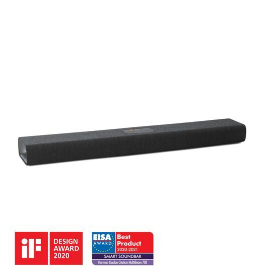 Harman Kardon Citation MultiBeam™ 700 - Black - The smartest, compact soundbar with MultiBeam™ surround sound - Hero