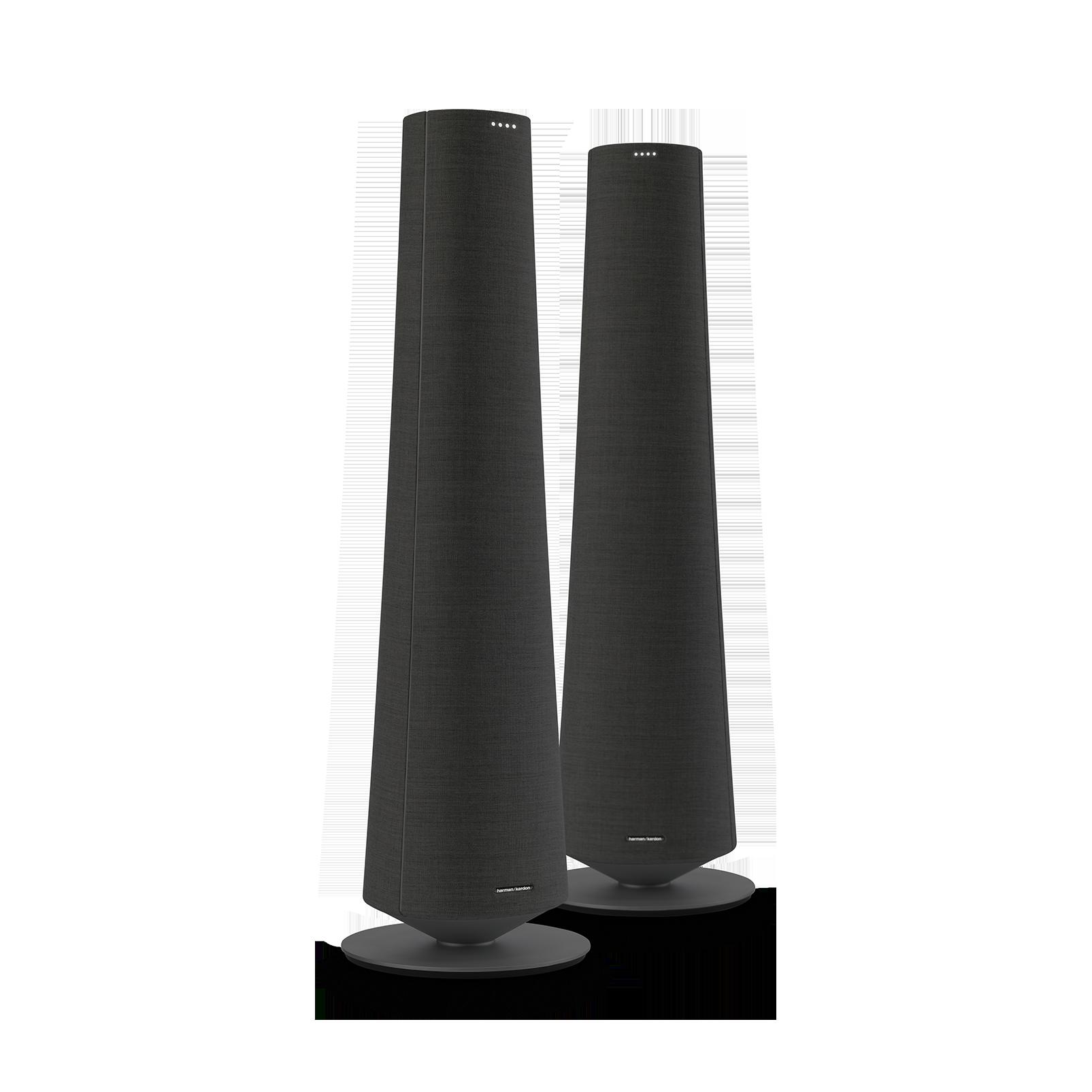 Harman Kardon Citation Tower - Black - Smart Premium Floorstanding Speaker that delivers an impactful performance - Hero